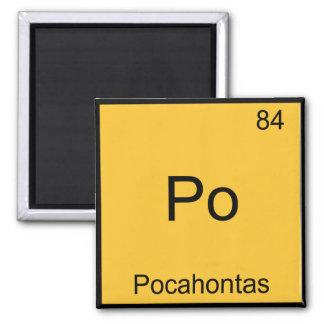 Po - Pocahontas Funny Chemistry Element Symbol Tee Square Magnet