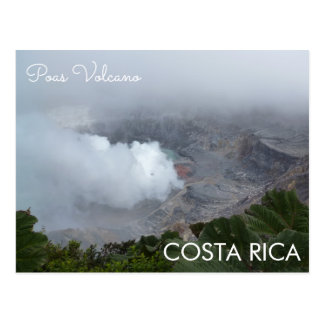 Poas Volcano, Costa Rica Postcard