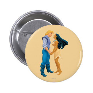 Pocahontas and John Smith Holding Hands 2 Inch Round Button