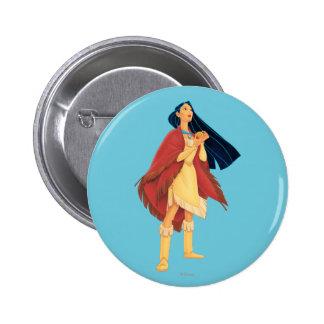 Pocahontas Cape 2 Inch Round Button