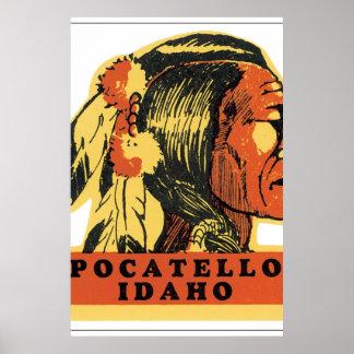 Pocatello Idaho Vintage Travel Poster Artwork