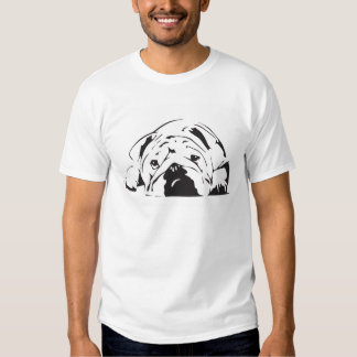 Pochoir britannique de bouledogue tee shirt