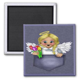 Pocket Angel Blonde Magnet