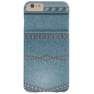 Pocket Denim Blue Jeans Barely There iPhone 6 Plus Case