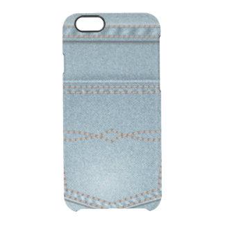 Pocket Denim Blue Jeans Clear iPhone 6/6S Case