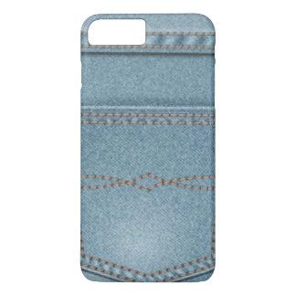 Pocket Denim Blue Jeans iPhone 7 Plus Case