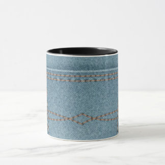 Pocket Denim Blue Jeans Mug