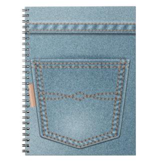 Pocket Denim Blue Jeans Note Books