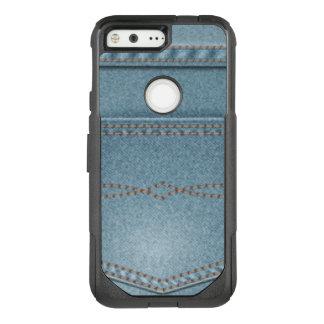 Pocket Denim Blue Jeans OtterBox Commuter Google Pixel Case