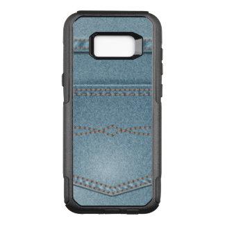 Pocket Denim Blue Jeans OtterBox Commuter Samsung Galaxy S8+ Case