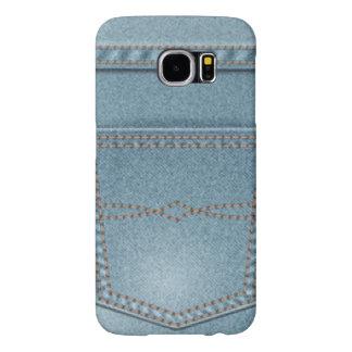 Pocket Denim Blue Jeans Samsung Galaxy S6 Cases
