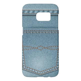 Pocket Denim Blue Jeans Samsung Galaxy S7 Case