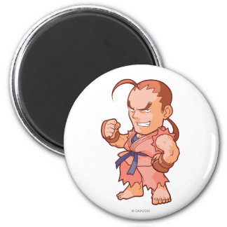 Pocket Fighter Dan 2 Inch Round Magnet