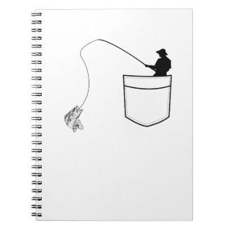 Pocket Fishing  Funny Gift Fisherman Notebooks