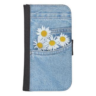 Pocket full of daisies samsung s4 wallet case