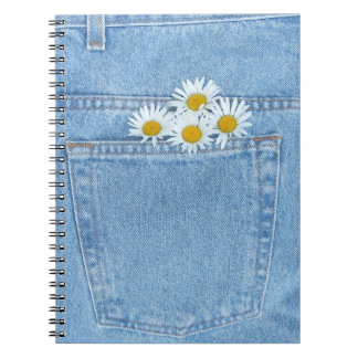 Pocket full of daisies spiral notebook