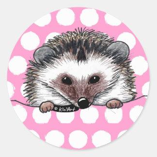 Pocket Hedgehog Round Sticker