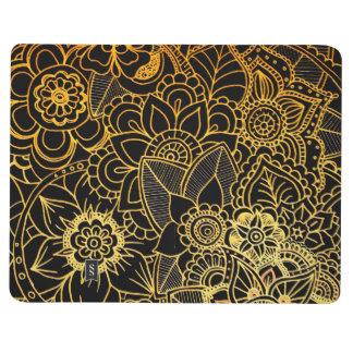 Pocket Journal Floral Doodle Gold G523
