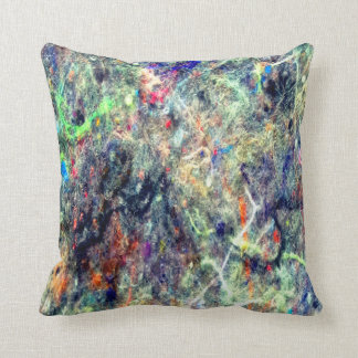 Pocket lint Neon Abstract  throw pillow