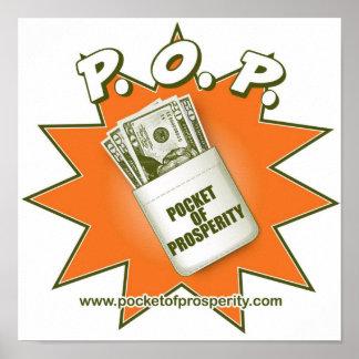 """Pocket Of Prosperity - P.O.P."" Small Poster"