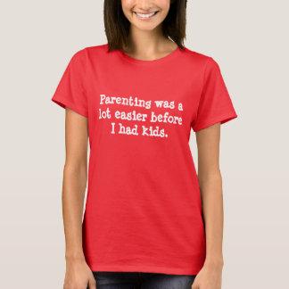 Pocket Postcard T-shirt - Parenting Was Easier