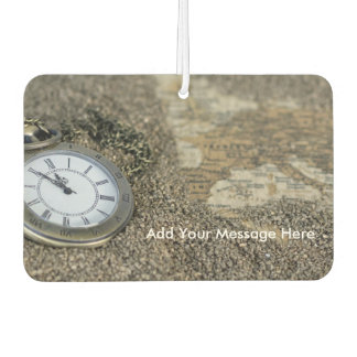 Pocket Watch and Map Travel Car Air Freshener