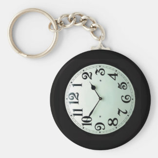 pocket watch basic round button keychain