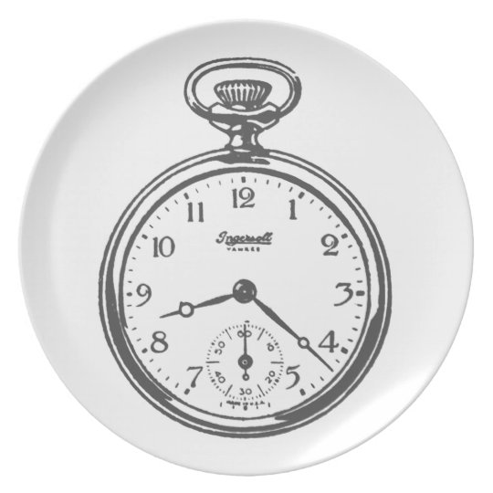 Pocket Watch dinner plate
