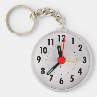 Pocket watch look keychain
