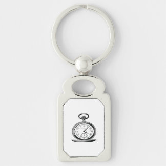 Pocket Watch Vintage Newspaper Ad Keychain