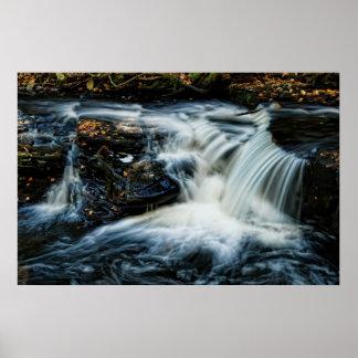 Poconos Cascade Waterfall Poster