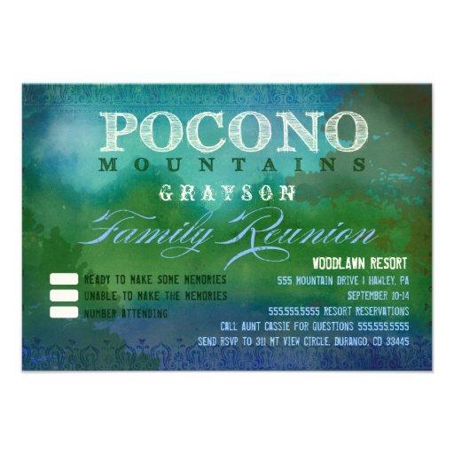 POCONOS Family Reunion Custom Invitation