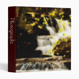 "Poconos Springtime Waterfall Scene 1"" Photo Album 3 Ring Binder"