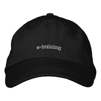 pod e-training basic adjustable cap embroidered hats