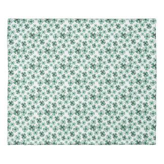 Pod Green Lucky Shamrock Clover Duvet Cover