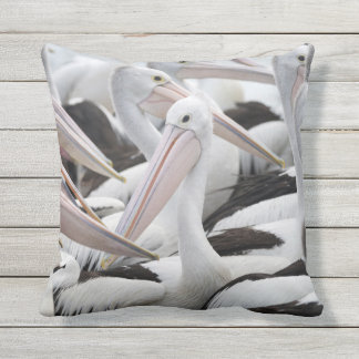 Pod of Pelicans Outdoor Pillow