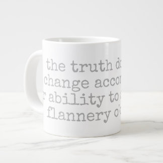 podalmighty.net Flanerry O'connor quote mug truth