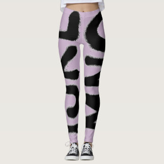 PODALMIGHTY.ROCKS STREET ART LEGGINGS AMETHYST