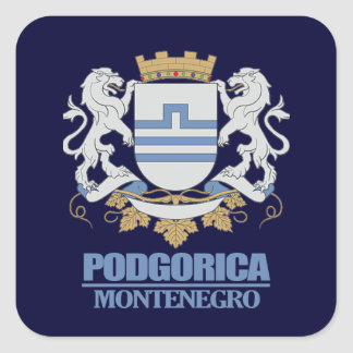 Podgorica Coat of Arms Square Sticker