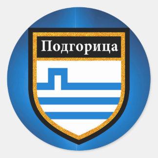 Podgorica Flag Classic Round Sticker