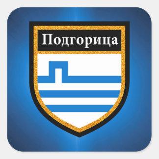 Podgorica Flag Square Sticker