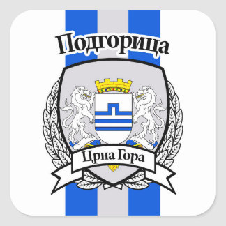 Podgorica Square Sticker