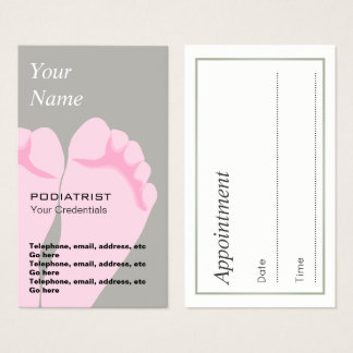 Podiatrist Chiropodist Appointment Business Cards