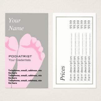 Podiatrist Chiropodist Price Business Cards