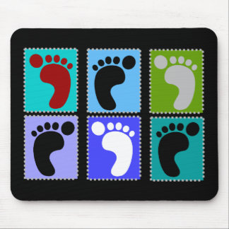 Podiatrist Gifts Popart Design of Feet Mouse Pad