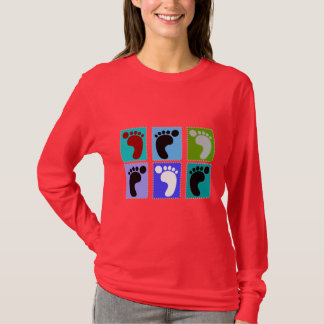 Podiatrist Gifts Popart Design of Feet T-Shirt