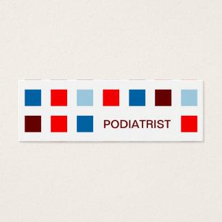 PODIATRIST (mod squares) Mini Business Card