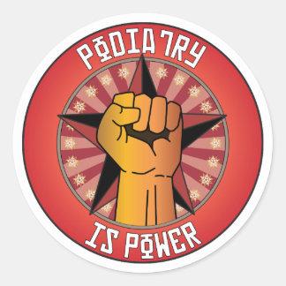 Podiatry Is Power Classic Round Sticker