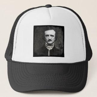 Poe Black and White Grunge Trucker Hat