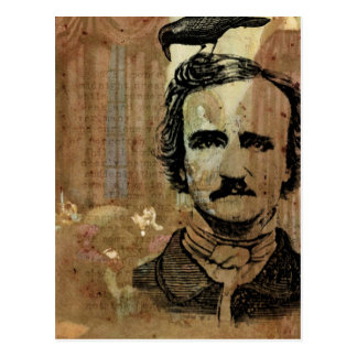 Poe Collage Postcard